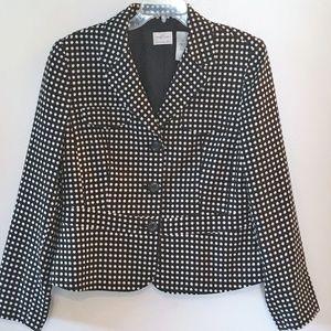 Black Polka Dot Blazer ~ Size 12 Emma James Career